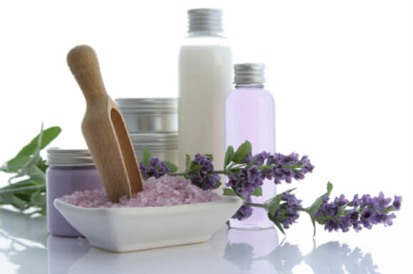 photograph of natural beauty products