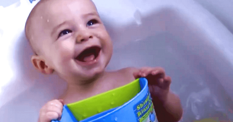 Need a chuckle? Watch baby Griffin laugh hysterically in the bath :)