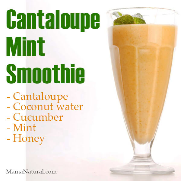 Refreshing Mint Cantaloupe Smoothie