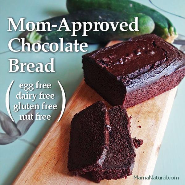 photo of delicious chocolate zucchini bread