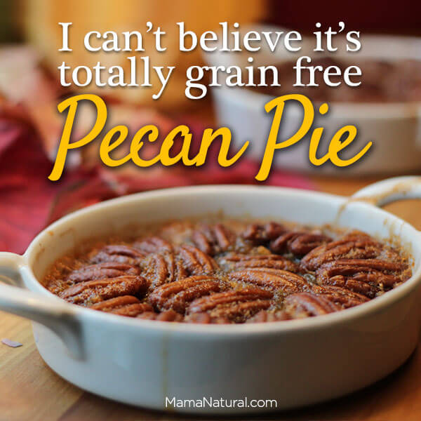 Gluten Free Dessert Grain Pecan Pie