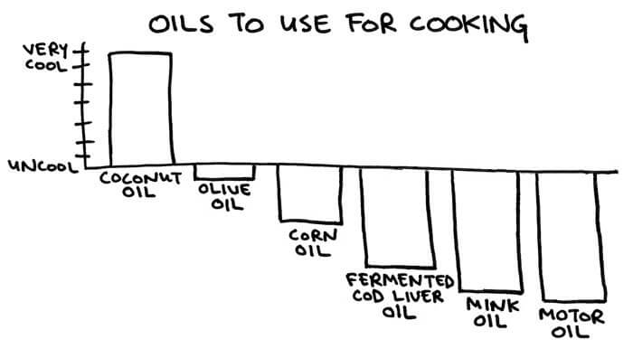 CoolnessGraphed Oils to Cook With - funny stuff at http://MamaNatural.com