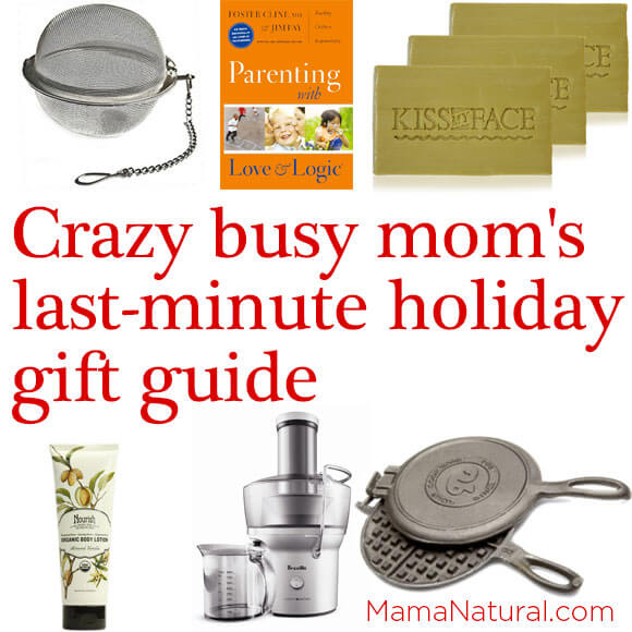 Crazy busy mom's last minute holiday gift guide via http://MamaNatural.com