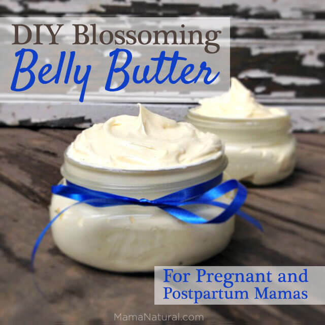 DIY Blossoming Belly Butter for Pregnant and Postpartum Moms via https://MamaNatural.com