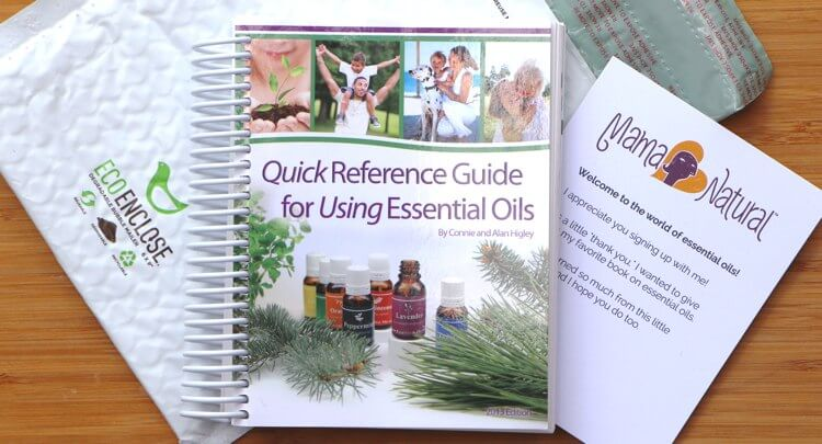 Free essential oil book you'll get when you sign up with Mama Natural :)