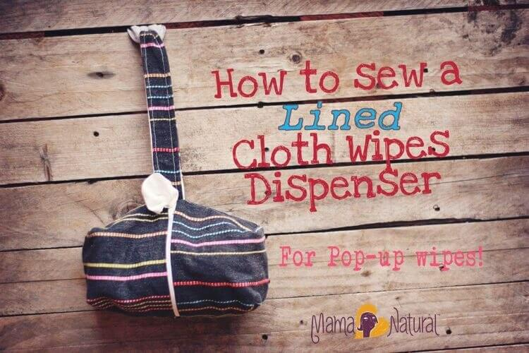 How to sew a lined cloth wipe dispenser.