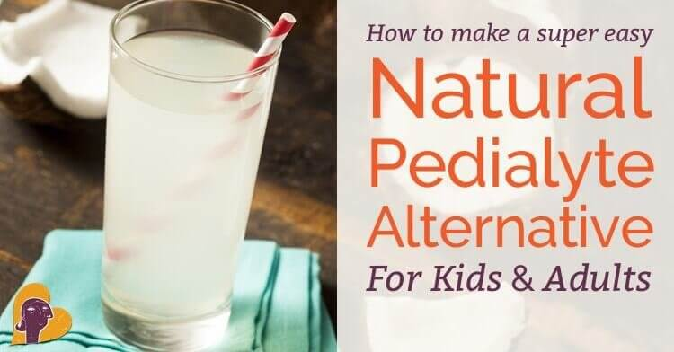 I can give you a recipe for an amazing, all-natural, better-than-Pedialyte drink to rehydrate your sick baby or child (or yourself) in just four words.