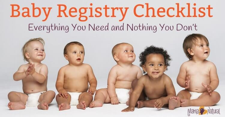 deae42a75 All Natural Baby Registry Checklist