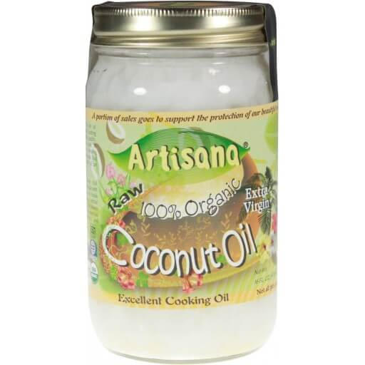 Artisana 100 Organic Raw Coconut Oil Extra Virgin -- 16 fl oz