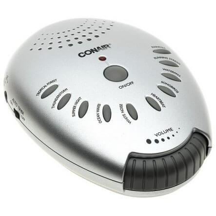 Conair SU1W Sound Therapy, Silver