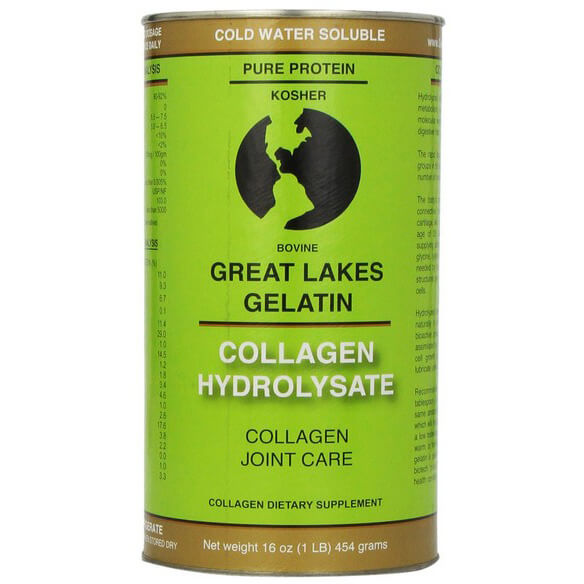 Great Lakes Gelatin, Collagen Hydrolysate (Kosher) 16-Ounce