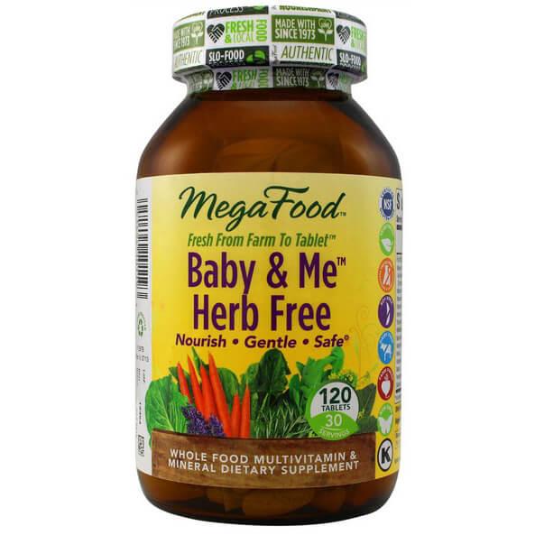 MegaFood Baby & Me Herb Free Tablets