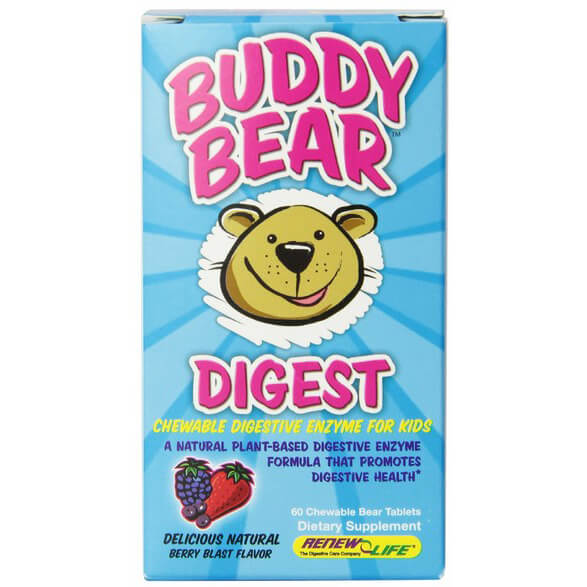 Renew Life Multi-Enzyme Digest Tablets, Buddy Bear, 60 Count