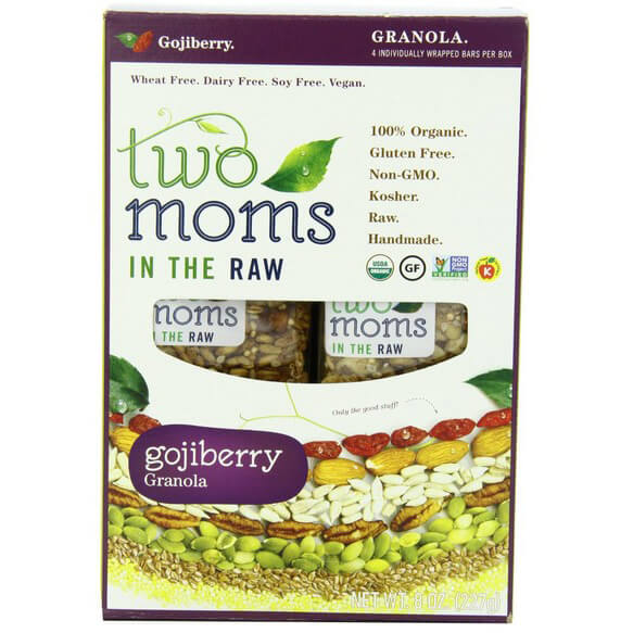 Two Moms in the Raw Goji Berry Granola Gluten Free, 8-Ounce