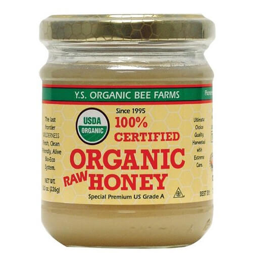 YS Royal Jelly Honey Bee - Certified Organic Raw Honey, 16 oz honey