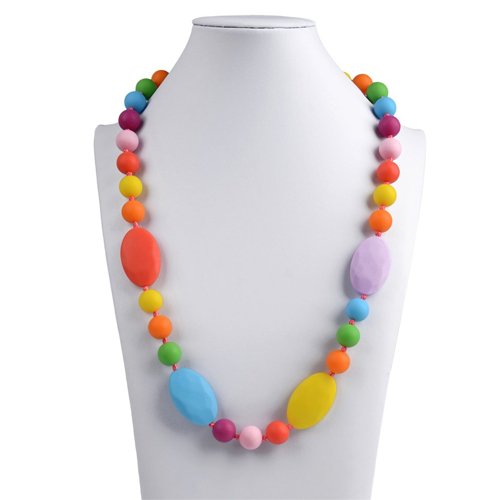 Chewable Silicone Baby Teething Necklace