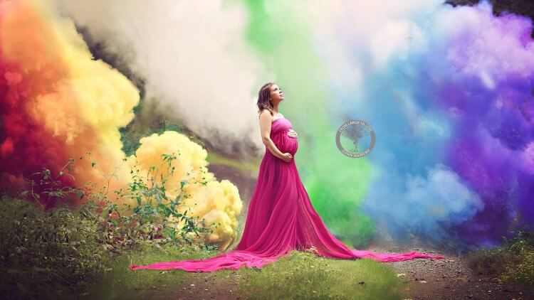 Like the miracle of a rainbow after a storm, a rainbow baby is one that is born after pregnancy loss. Rainbows don't erase storms, but they symbolize HOPE.
