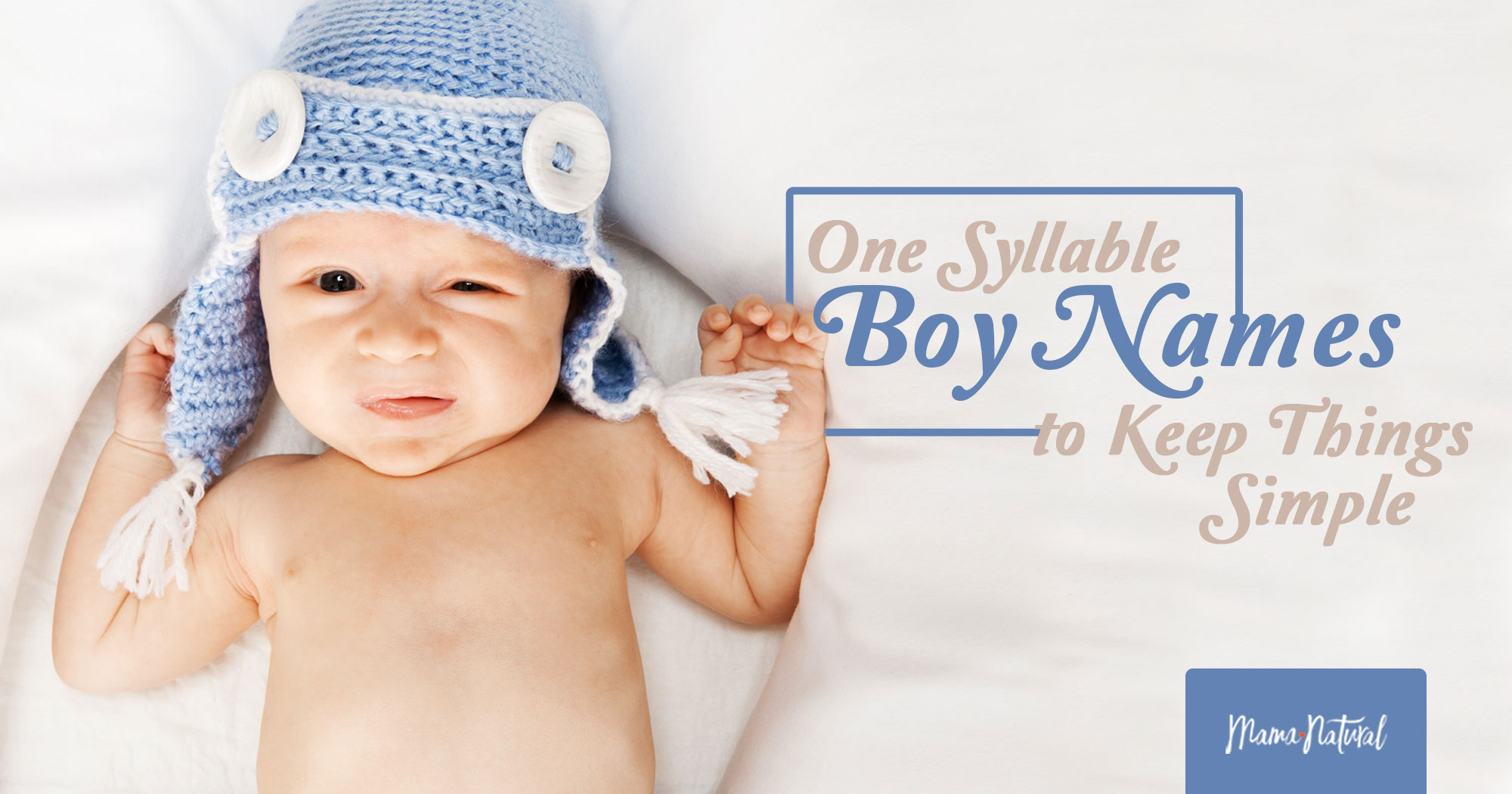 One Syllable Boy Names to Keep Things Simple | Mama Natural