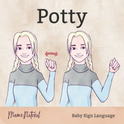 Baby Sign Language potty card - Mama Natural