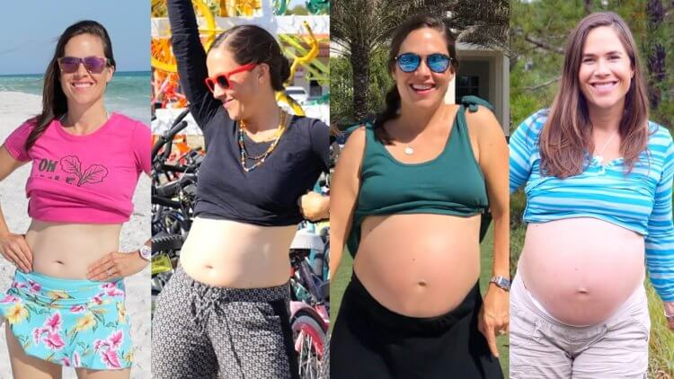 Literally nine months in the making! Watch me dance through every week of pregnancy in this fun timelapse video. Genevieve Howland aka Mama Natural in a pregnancy week by week video, pregnant with Faith Valencia.
