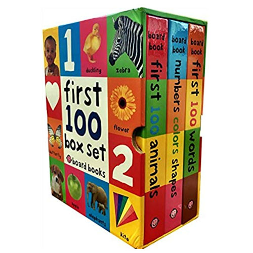 First 100 Collection 3 Books Box Set By Roger Priddy