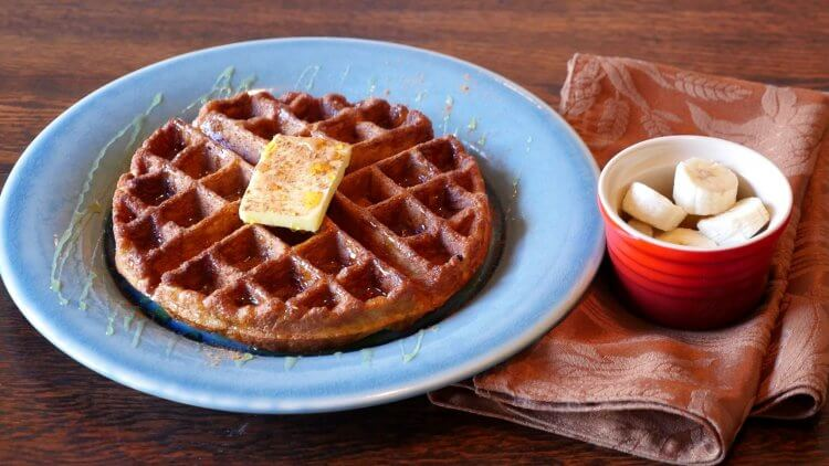 Grain Free Waffle Recipe with Banana Protein Powerhouse by Mama Natural