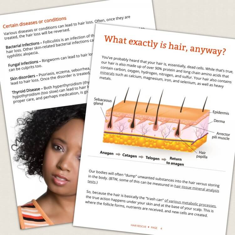 Hair Rescue - How to grow thicker, healthier hair naturally by Genevieve Howland page spread 1