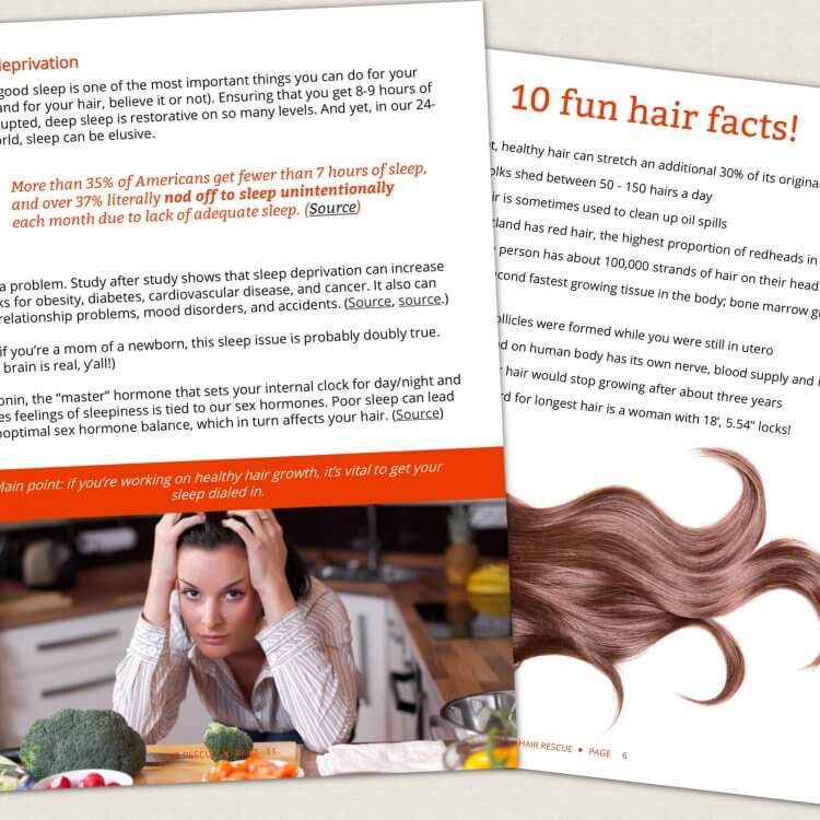 Hair Rescue - How to grow thicker, healthier hair naturally by Genevieve Howland page spread 2