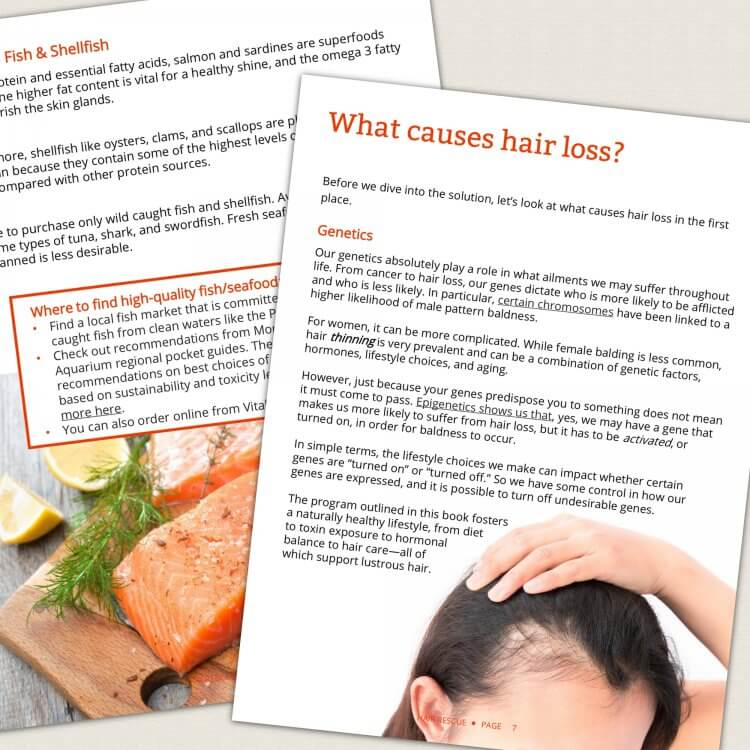 Hair Rescue - How to grow thicker, healthier hair naturally by Genevieve Howland page spread 3