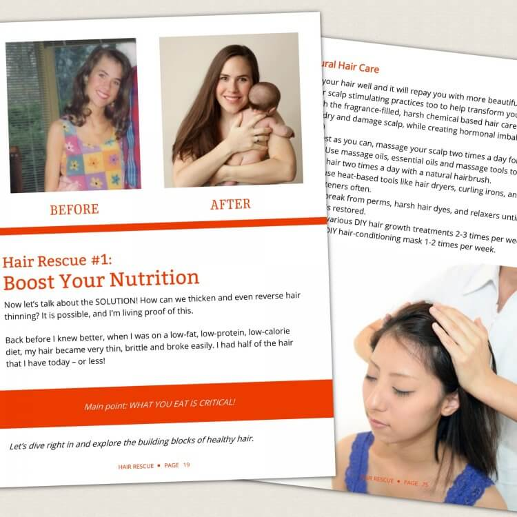 Hair Rescue - How to grow thicker, healthier hair naturally by Genevieve Howland page spread 4