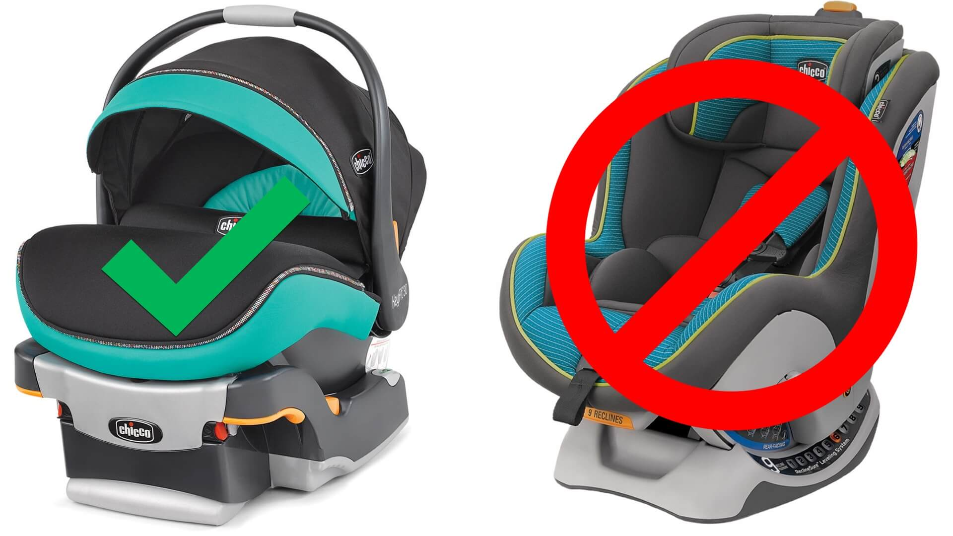 Use An Infant Car Seat Not A Childs
