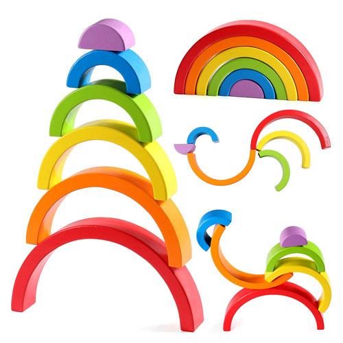 Lewo Wooden Rainbow Stacker