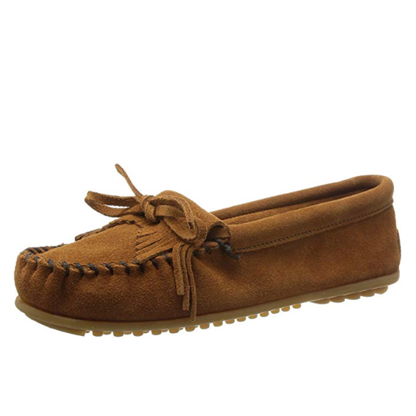 Minnetonka Women's Kilty Suede Moccasin - Minimalist shoes that look good post by Mama Natural