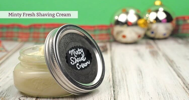 Minty Fresh Shaving Cream essential oil recipe by Mama Natural