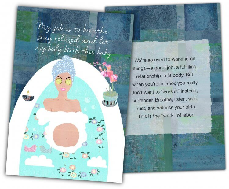 Natural Pregnancy Affirmation Cards example
