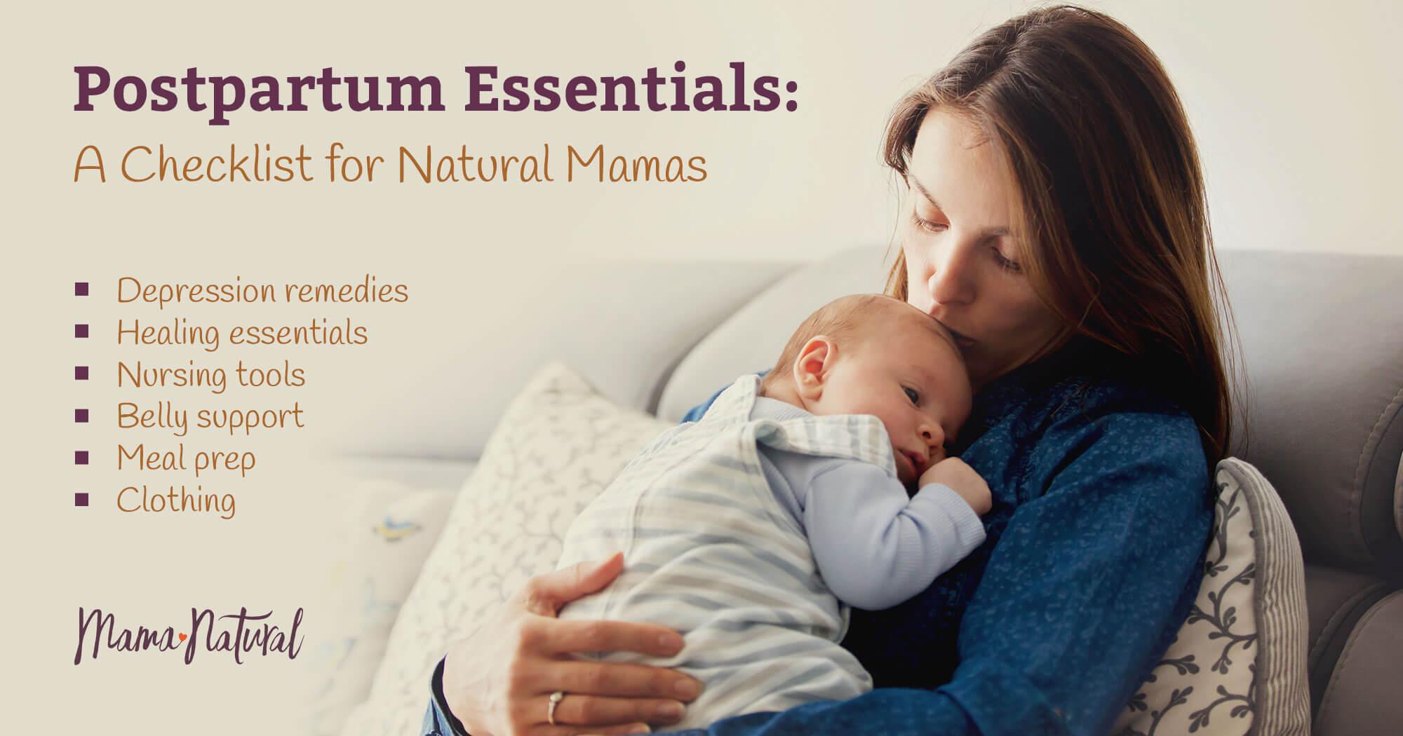 Postpartum Recovery Essentials: A Checklist for Natural Mamas
