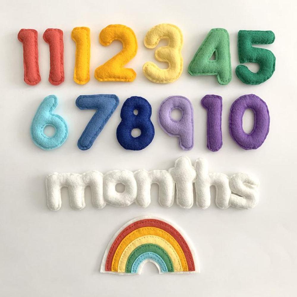 Rainbow Baby Milestone Numbers