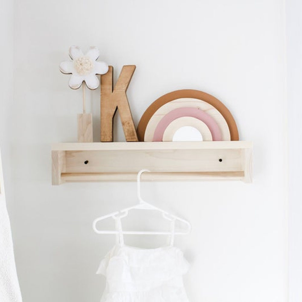 Rainbow Baby Wooden Decor