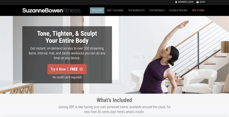 Suzanne Bowen Fitness Homepage