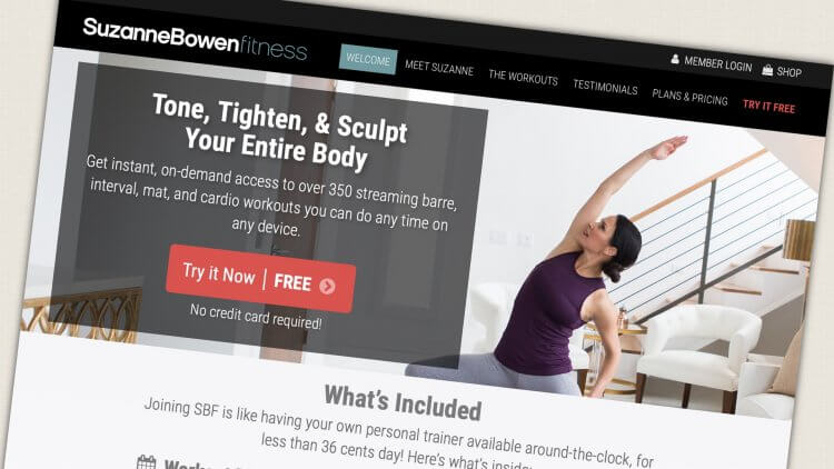 Suzanne Bowen Fitness - Online Workouts & Workout Videos - discount code