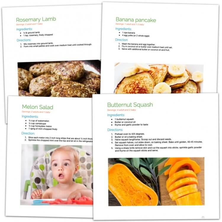 The Mama Natural Baby-Led Weaning Cookbook pages image 2
