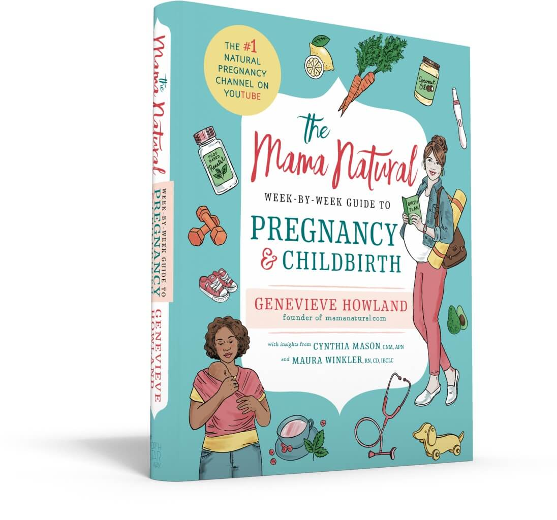 The Mama Natural Week-by-Week Guide to Pregnancy & Childbirth book facing right