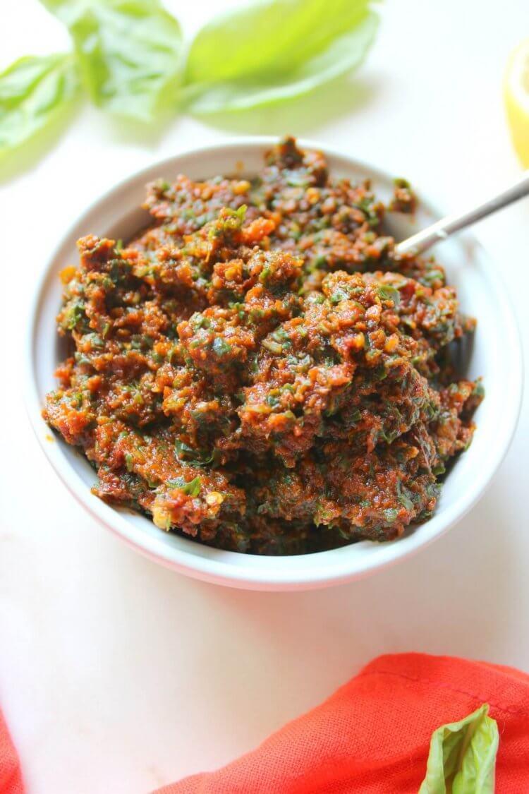 Vegan Sundried Tomato Pesto by This Savory Vegan