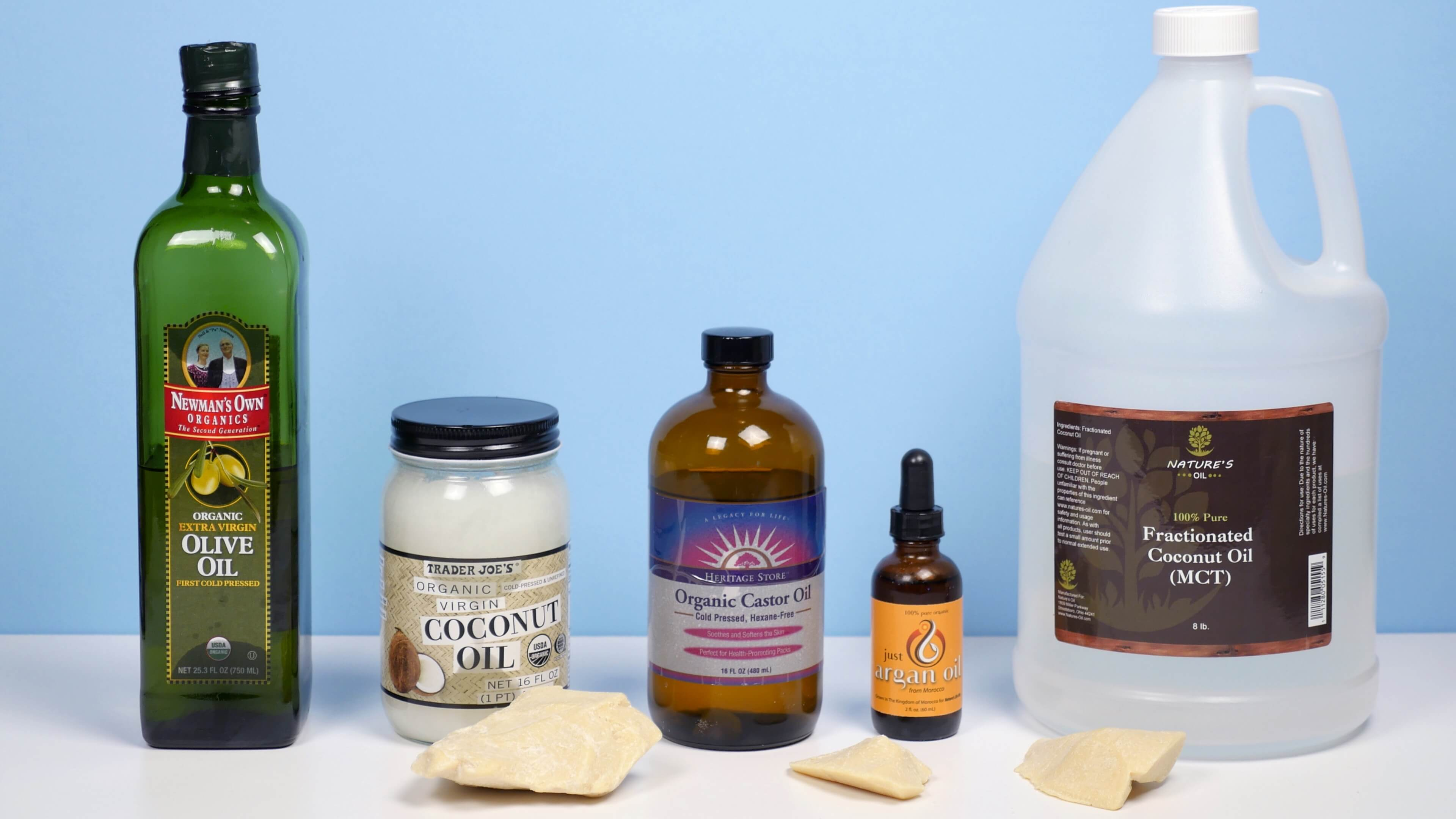 Wondering what carrier oil to use? Check out this list of options for carrier oils, butter and specialty oils, plus the best ways to use them.