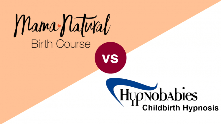 mama natural birth course vs Hypnobabies Self-Study Online Birthing Course